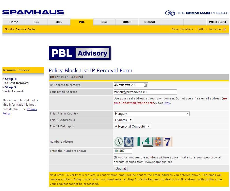 AZ Internet szolgáltatód megszívathat: RBL/CBL SPAM tiltás! VIGYÁZZ!
